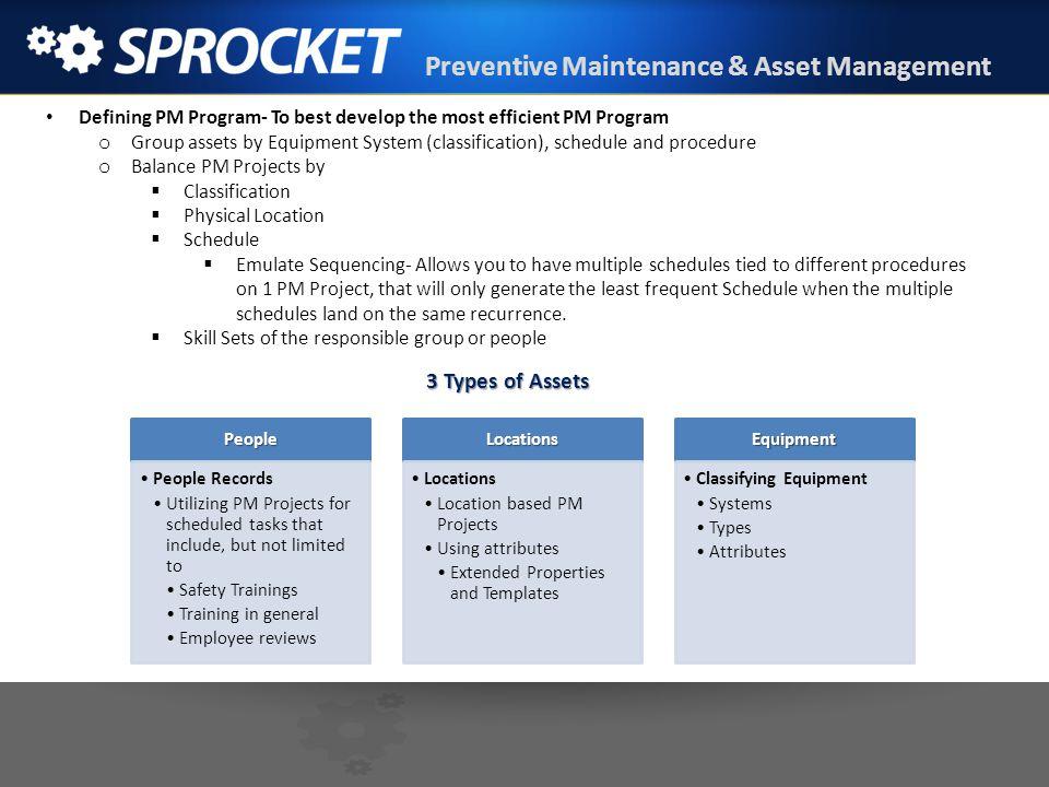Preventive Maintenance & Asset Management