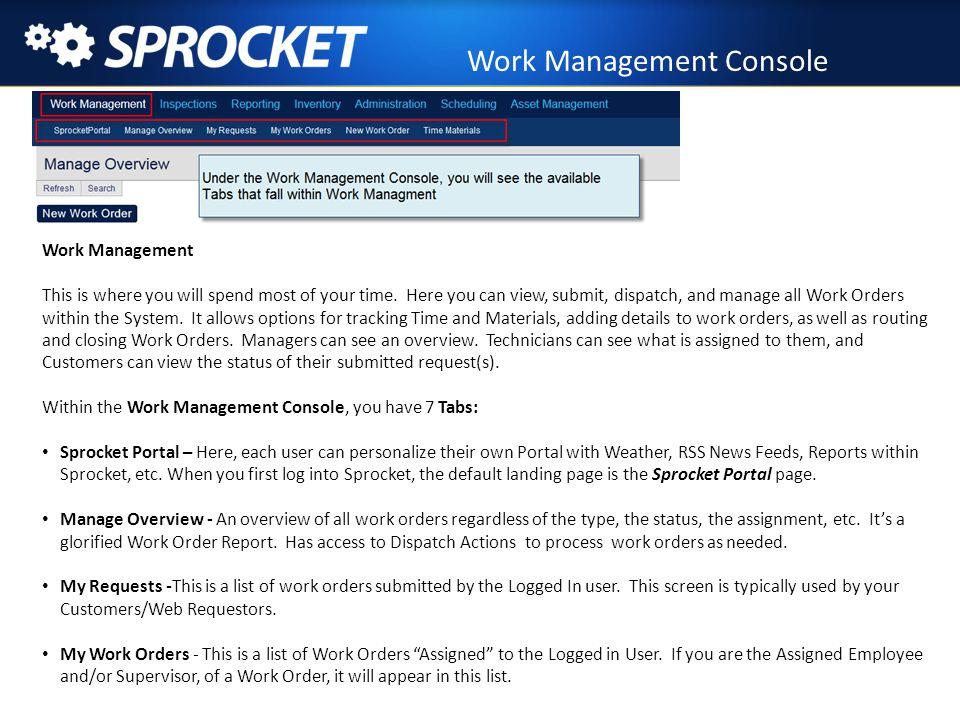 Work Management Console