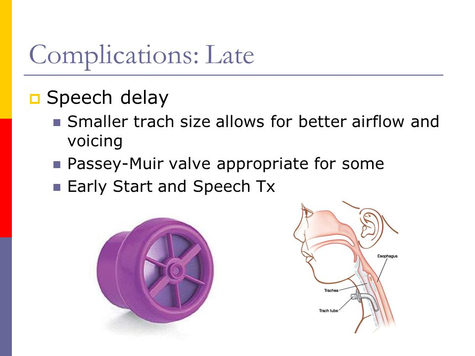 Complications: Late Speech delay