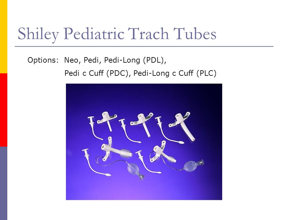Shiley Pediatric Trach Tubes