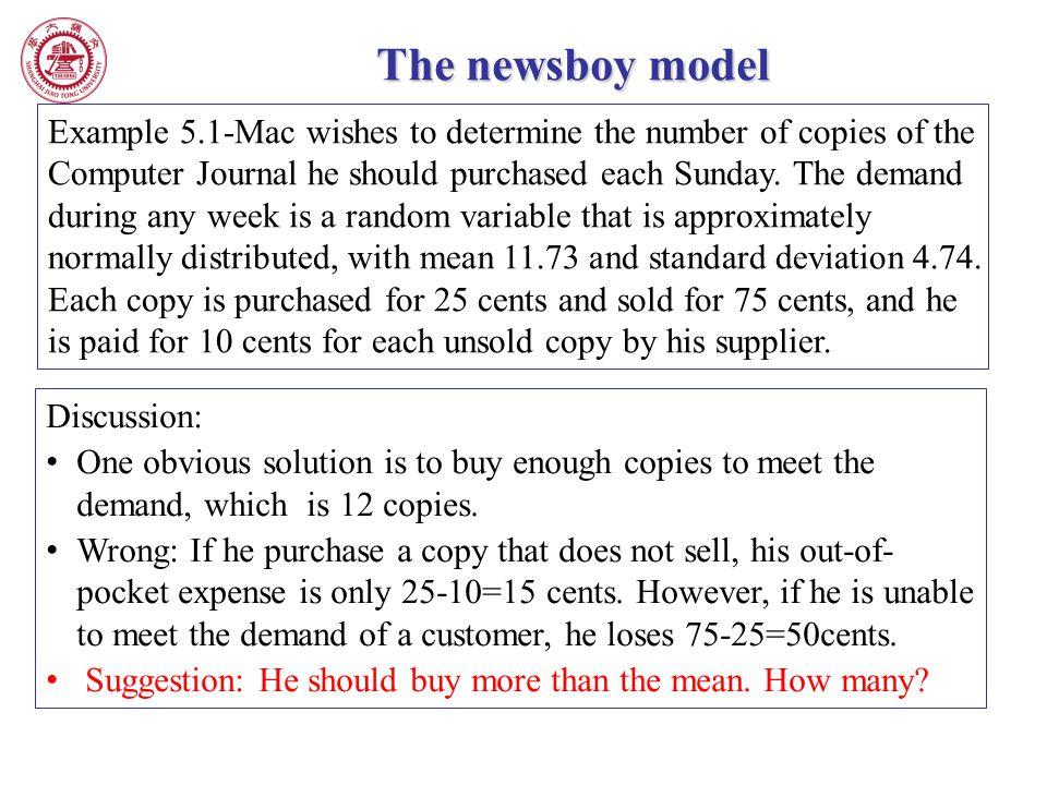 The newsboy model
