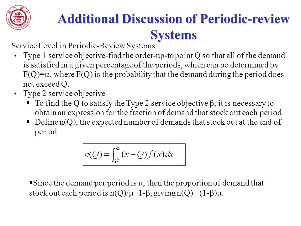 Additional Discussion of Periodic-review Systems