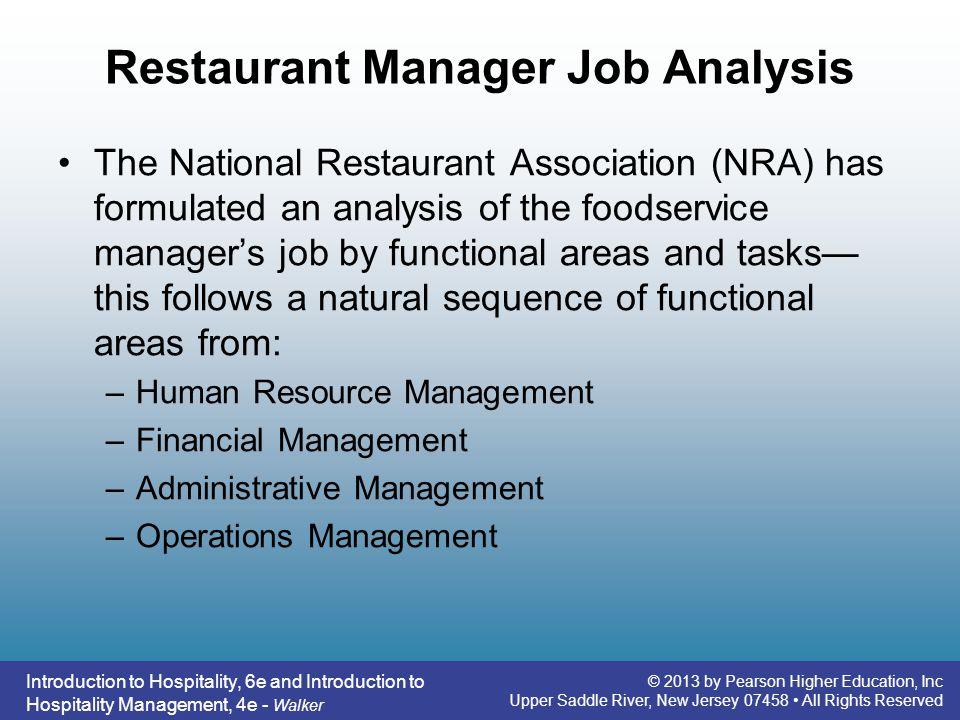 Restaurant Manager Job Analysis