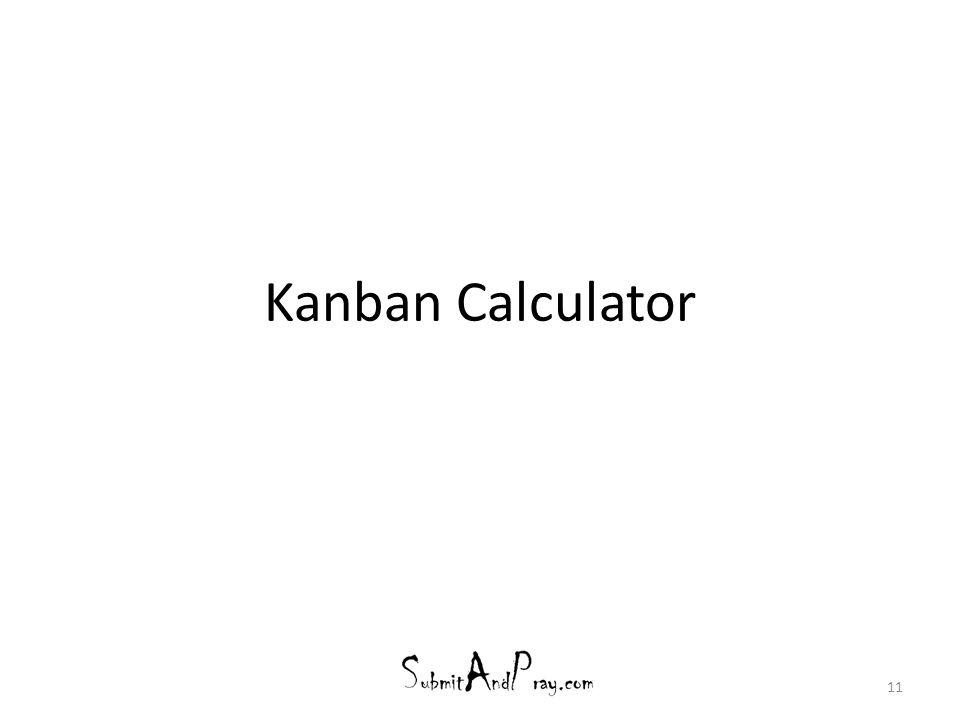 Kanban Calculator
