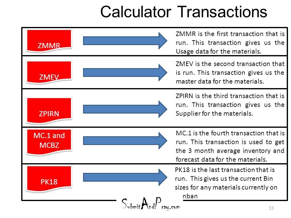 Calculator Transactions