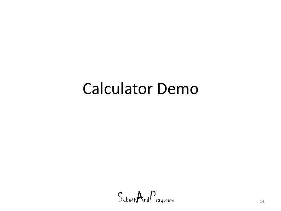 Calculator Demo