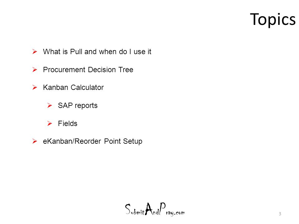 Topics What is Pull and when do I use it Procurement Decision Tree
