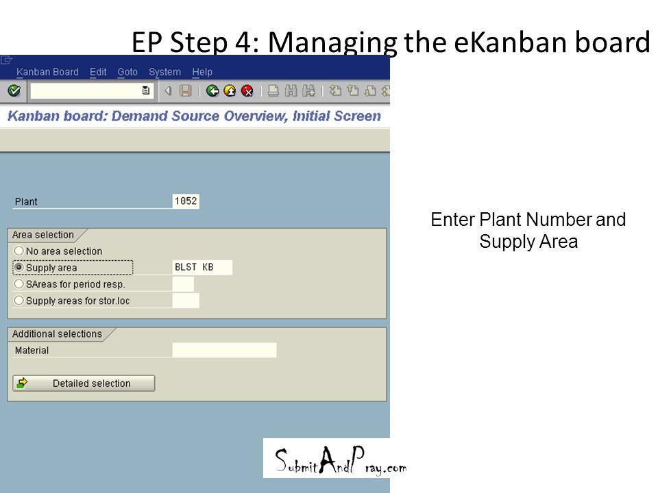 EP Step 4: Managing the eKanban board