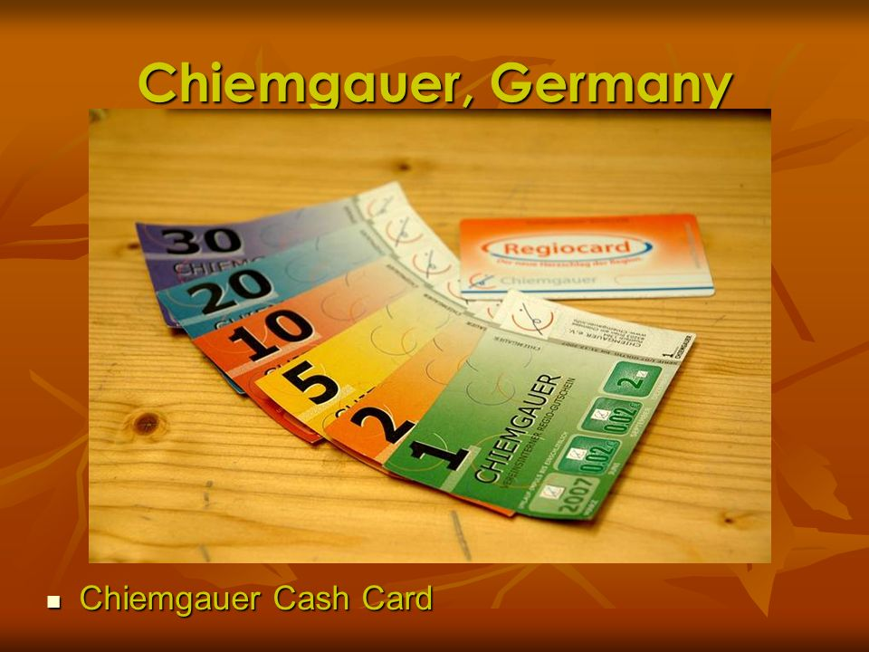 Chiemgauer, Germany Chiemgauer Cash Card