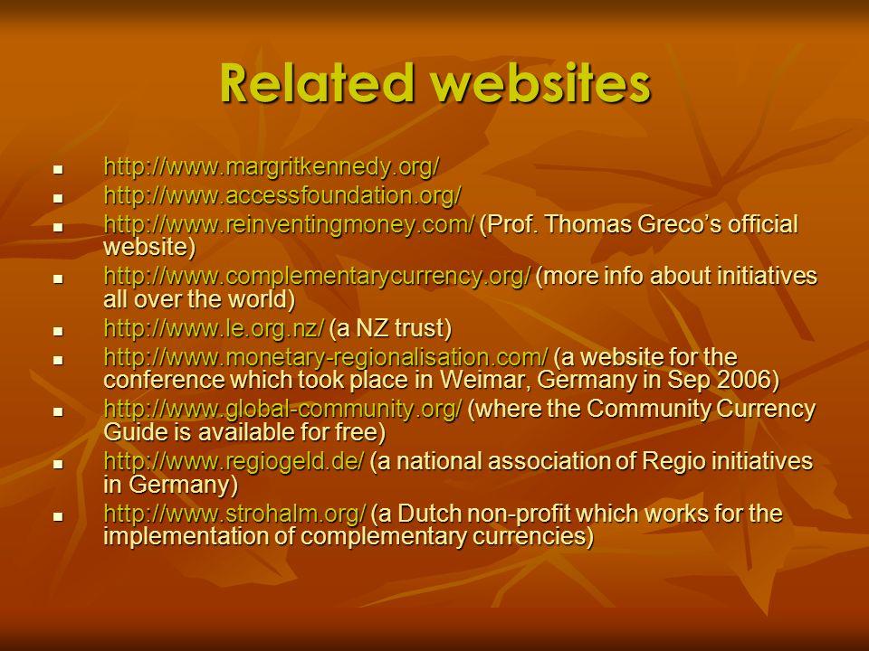 Related websites http://www.margritkennedy.org/