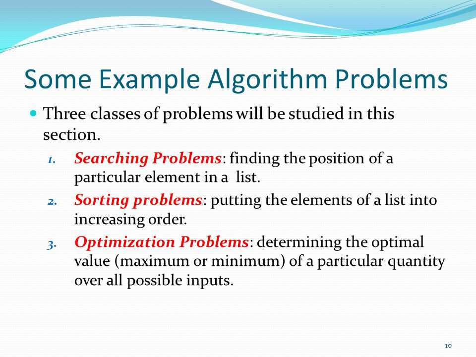 Some Example Algorithm Problems