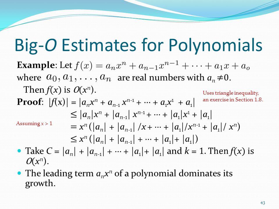 Big-O Estimates for Polynomials