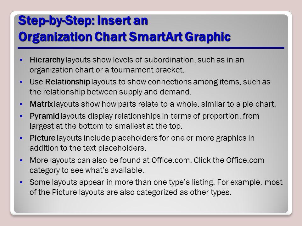 Step-by-Step: Insert an Organization Chart SmartArt Graphic