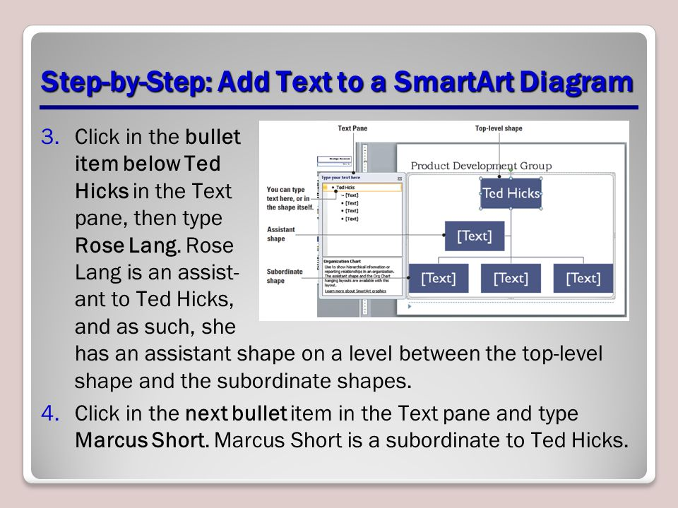 Step-by-Step: Add Text to a SmartArt Diagram