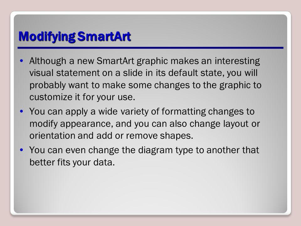 Modifying SmartArt