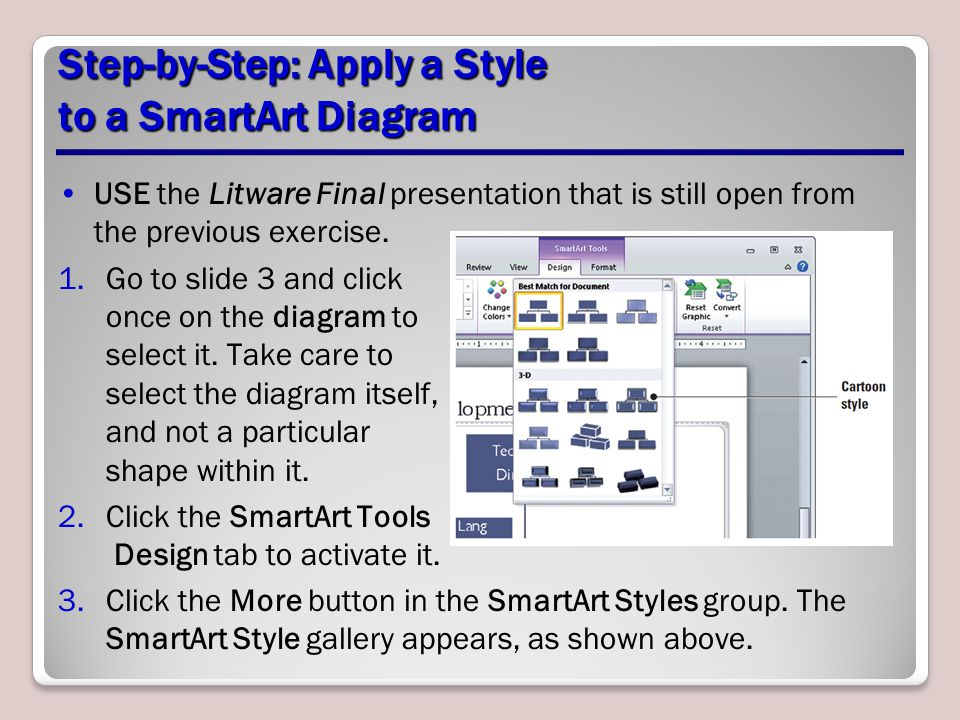 Step-by-Step: Apply a Style to a SmartArt Diagram