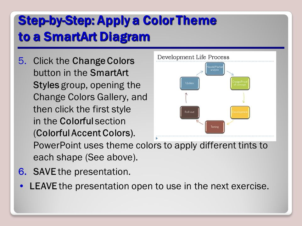 how to change color of smartart in powerpoint