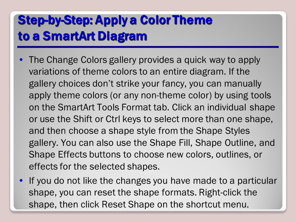 Step-by-Step: Apply a Color Theme to a SmartArt Diagram