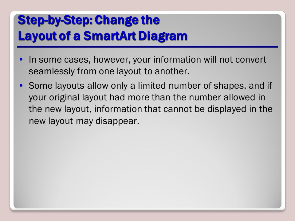 Step-by-Step: Change the Layout of a SmartArt Diagram