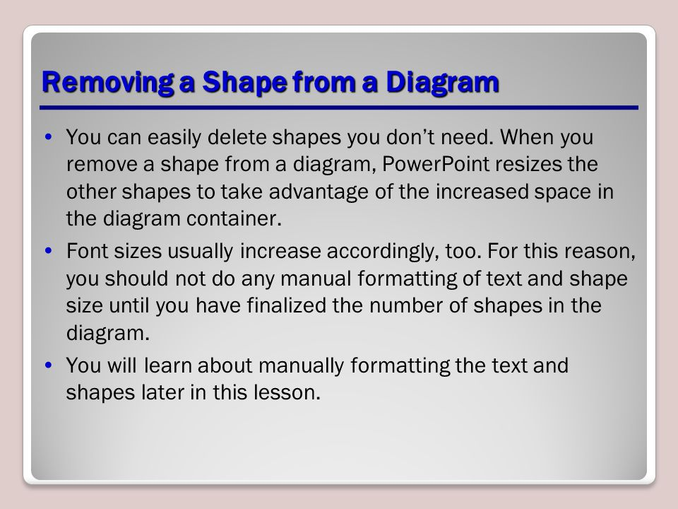 Removing a Shape from a Diagram