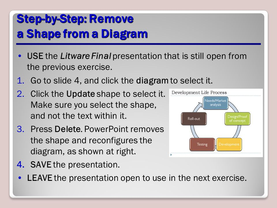 Step-by-Step: Remove a Shape from a Diagram