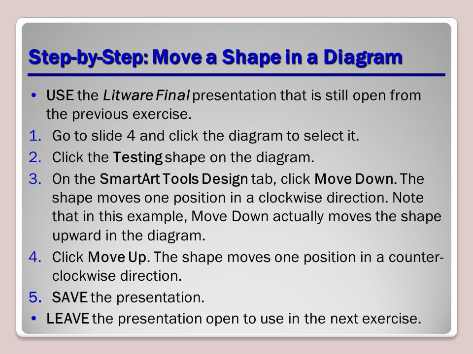 Step-by-Step: Move a Shape in a Diagram