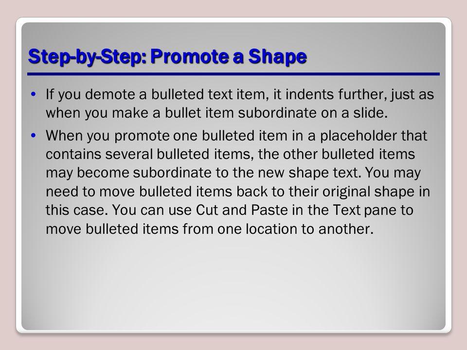 Step-by-Step: Promote a Shape