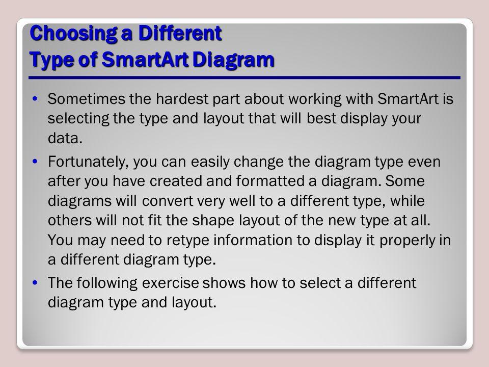 Choosing a Different Type of SmartArt Diagram