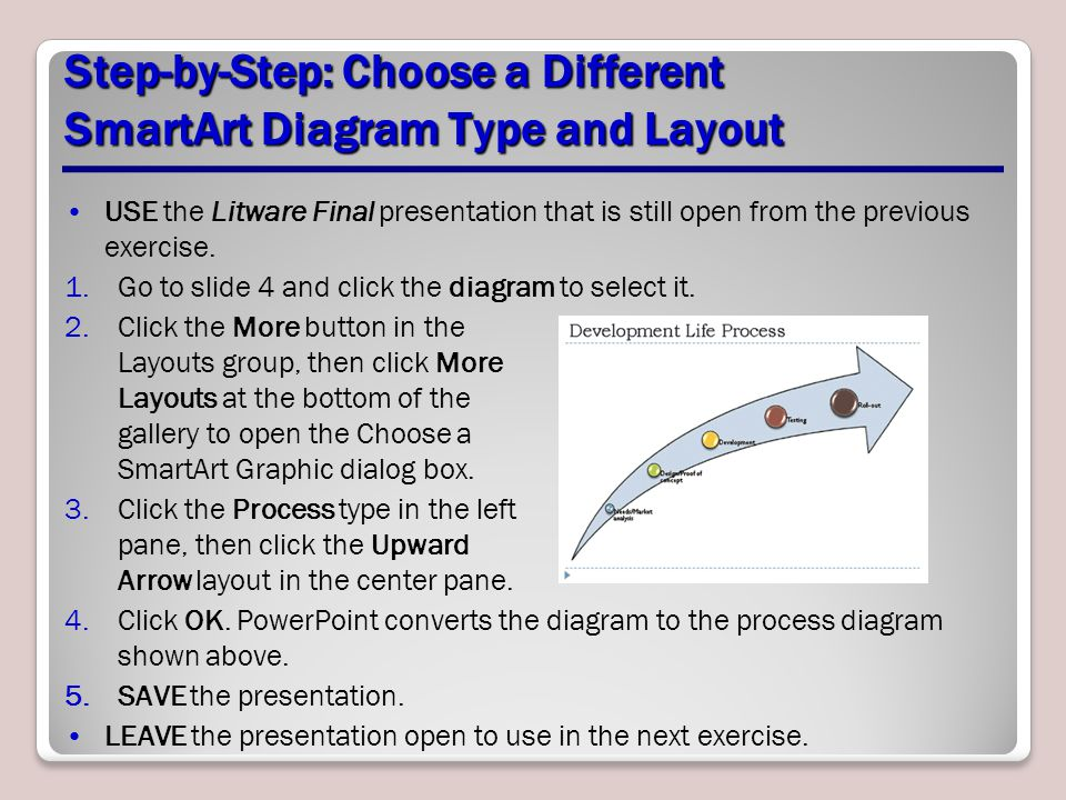 Step-by-Step: Choose a Different SmartArt Diagram Type and Layout
