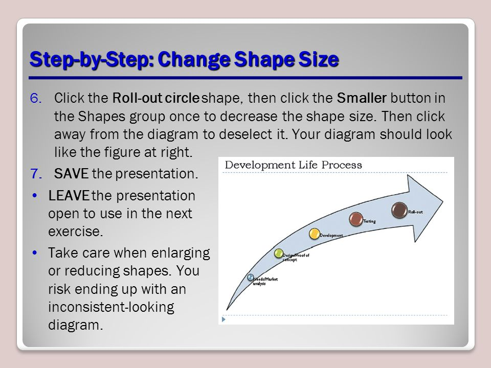Step-by-Step: Change Shape Size