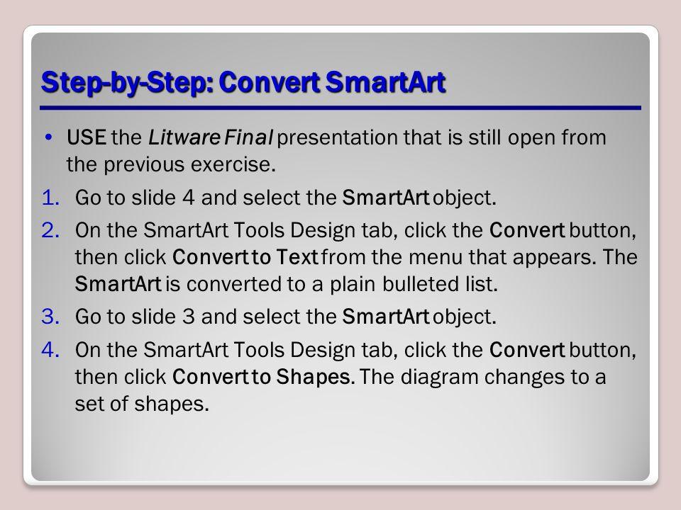 Step-by-Step: Convert SmartArt
