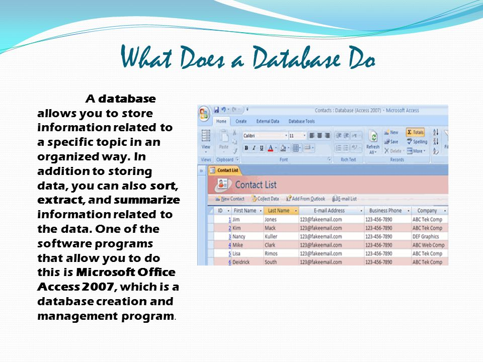 What Does a Database Do