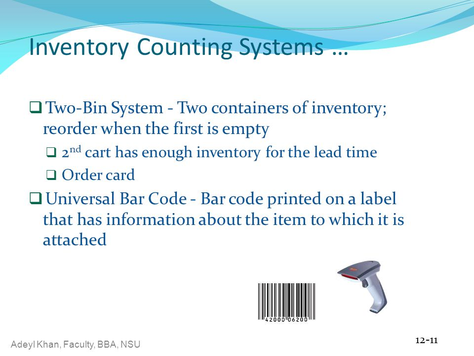 Inventory Counting Systems …