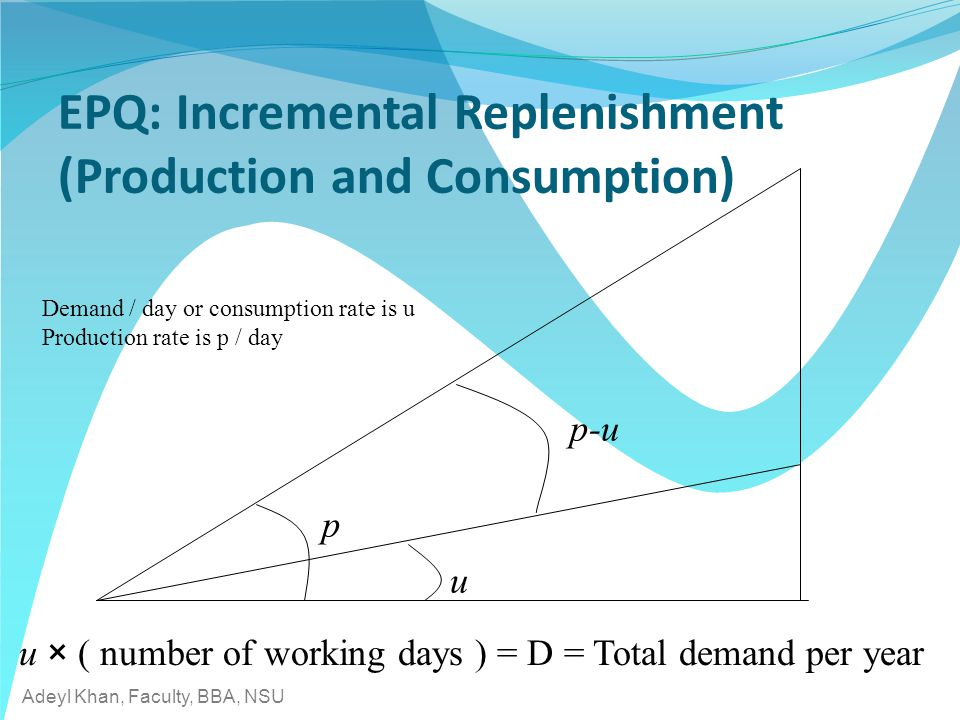 EPQ: Incremental Replenishment (Production and Consumption)