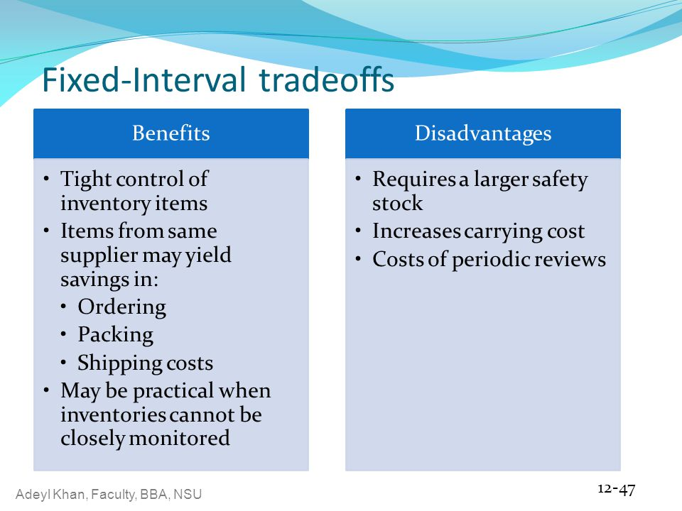 Fixed-Interval tradeoffs