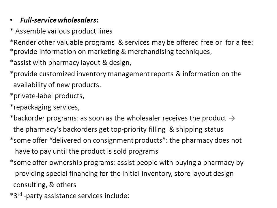 Full-service wholesalers: