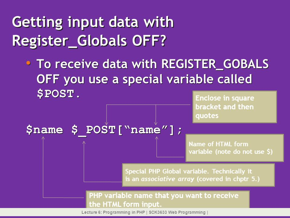 Getting input data with Register_Globals OFF