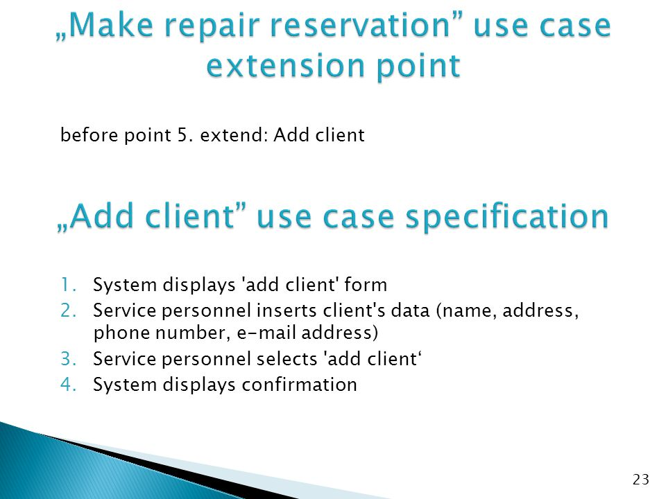 """Make repair reservation use case extension point"