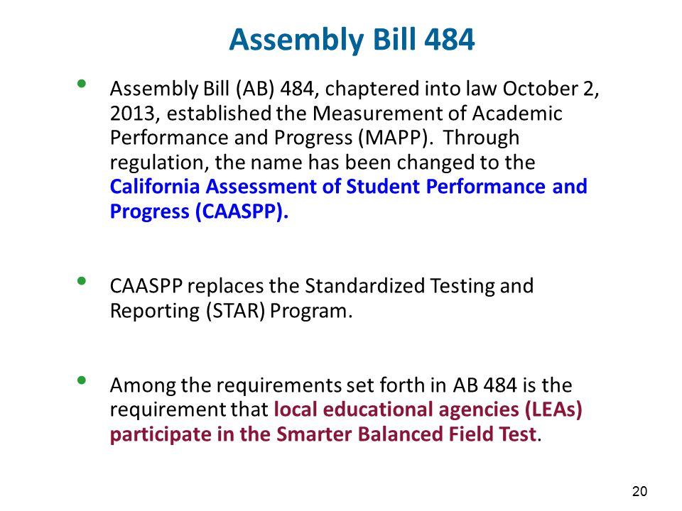 Assembly Bill 484