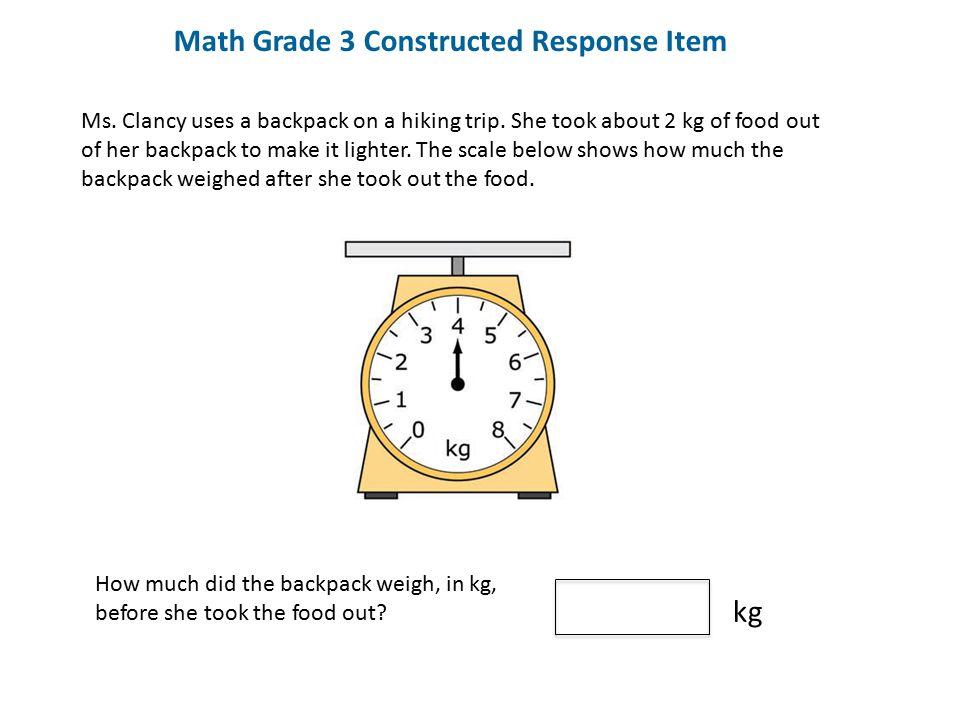 Math Grade 3 Constructed Response Item