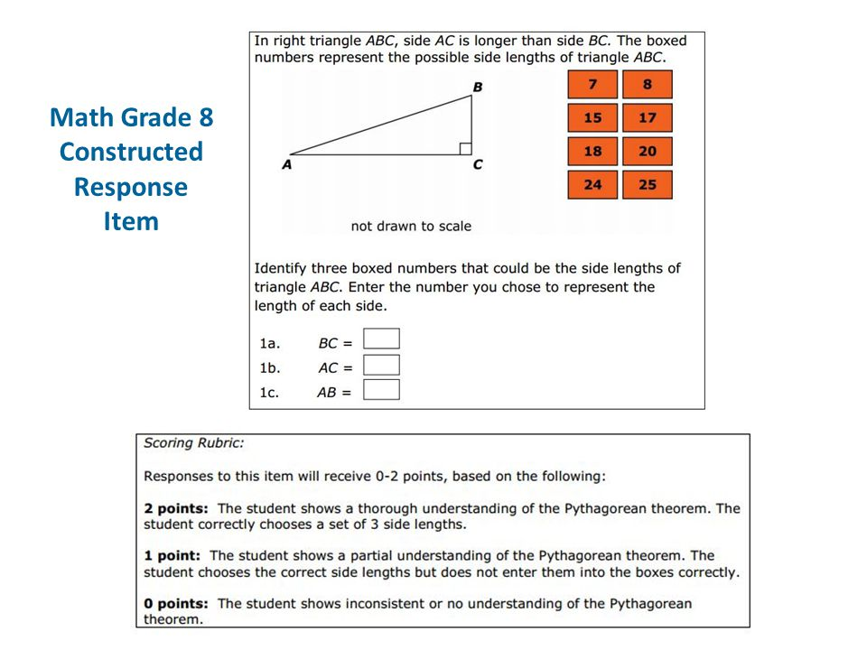 Math Grade 8 Constructed Response Item