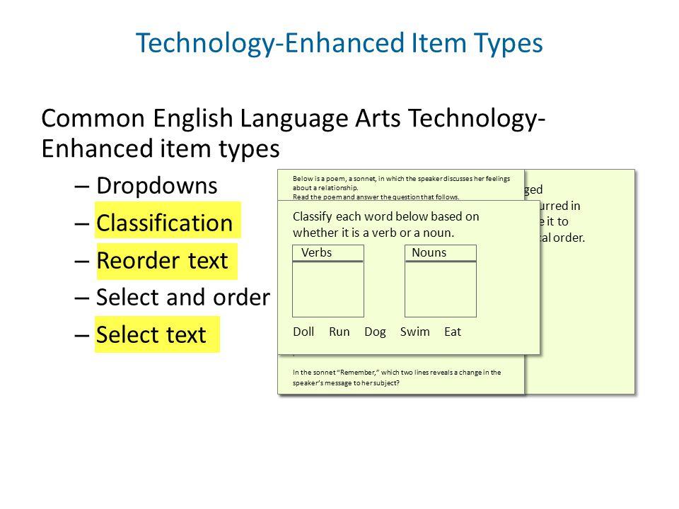 Technology-Enhanced Item Types