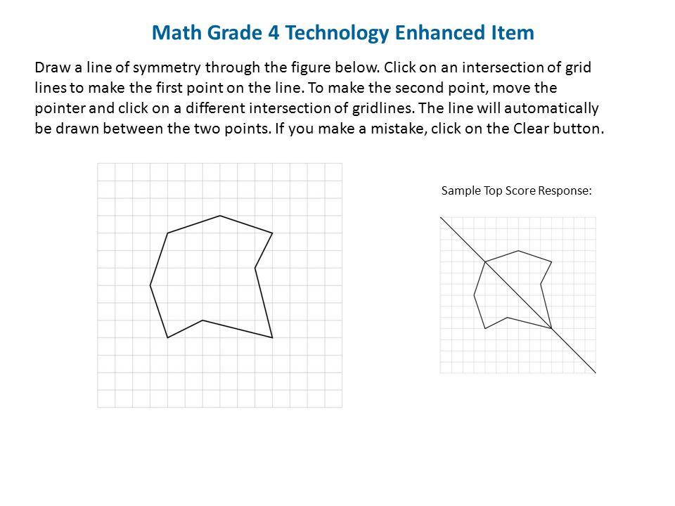 Math Grade 4 Technology Enhanced Item