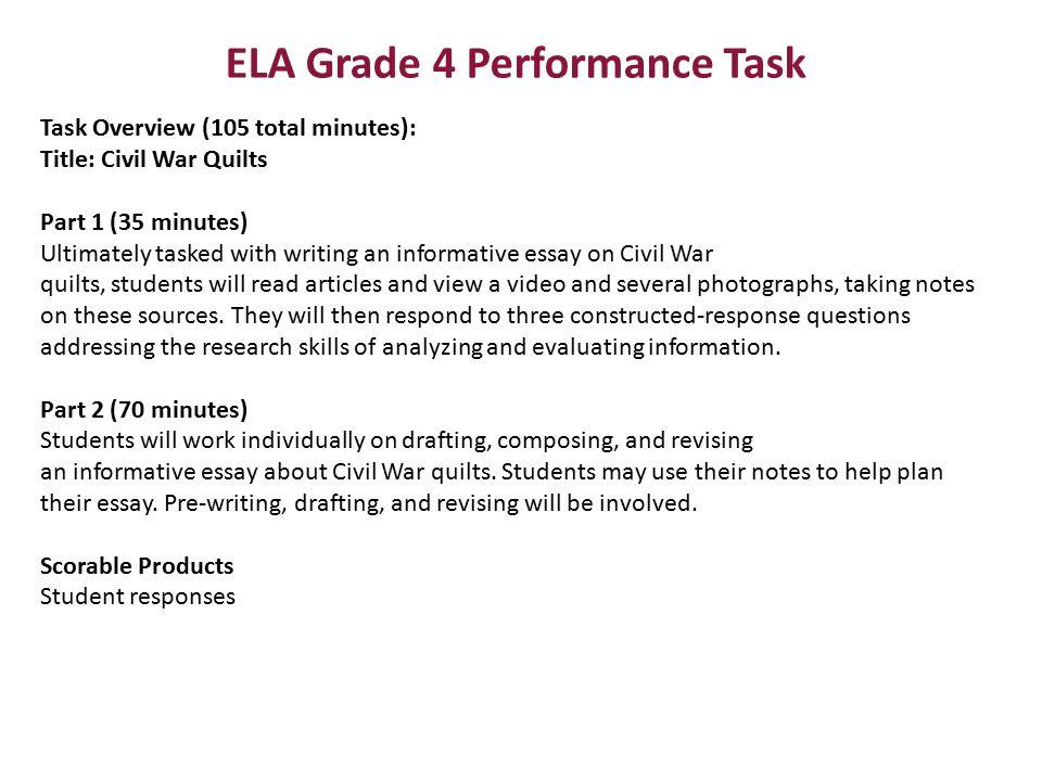 ELA Grade 4 Performance Task