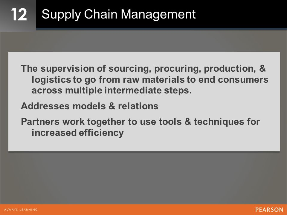 12 Supply Chain Management