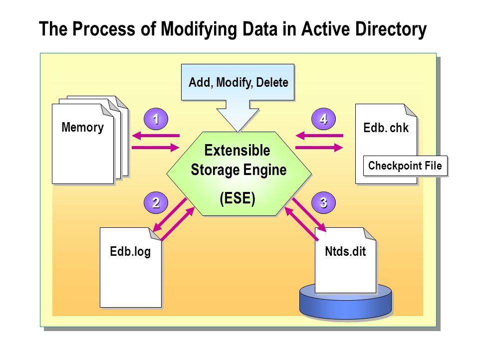The Process of Modifying Data in Active Directory