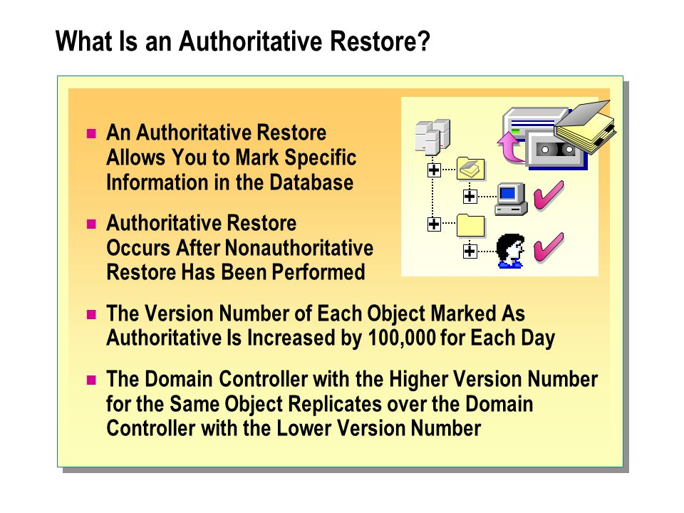What Is an Authoritative Restore