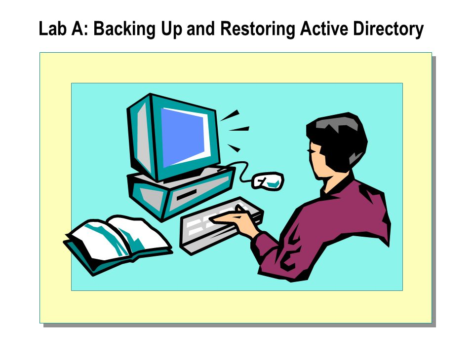Lab A: Backing Up and Restoring Active Directory