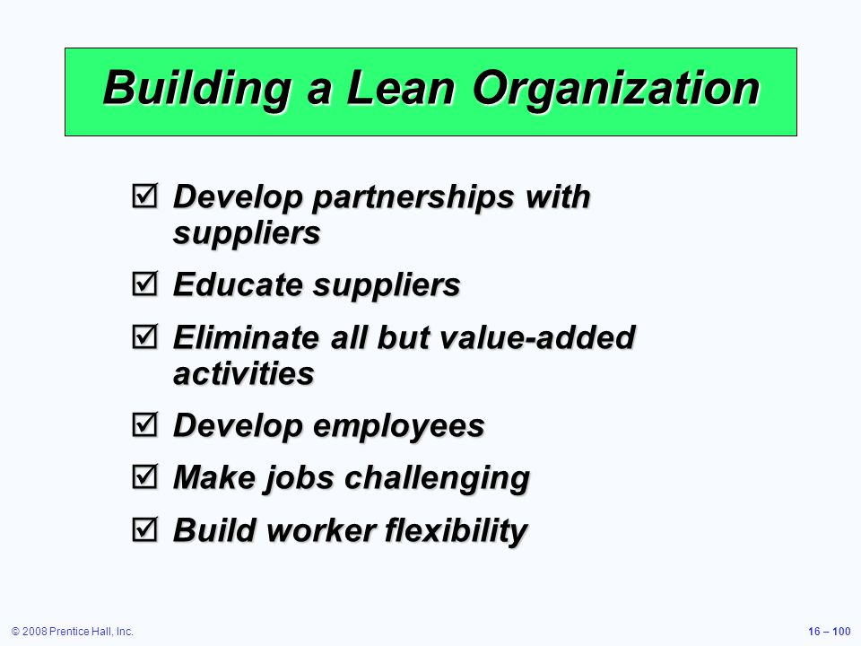 Building a Lean Organization