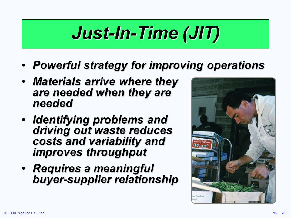 Just-In-Time (JIT) Powerful strategy for improving operations